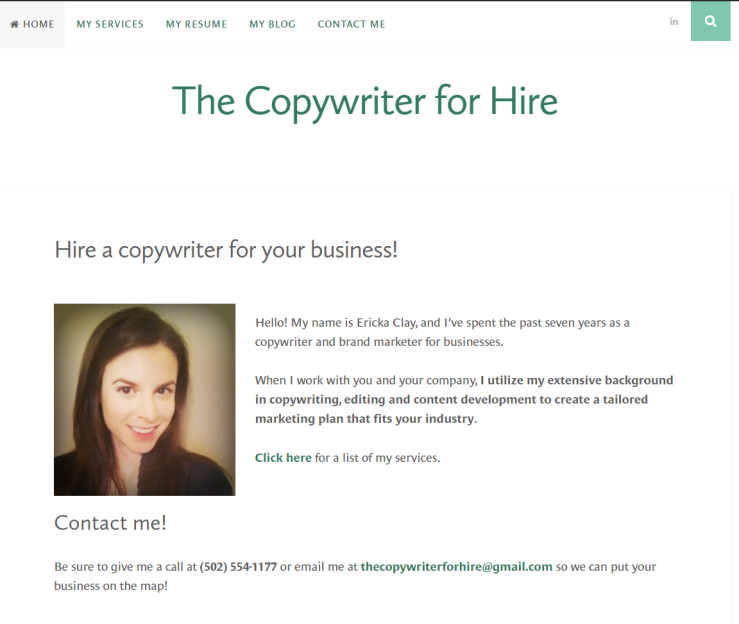 the copywriter for hire